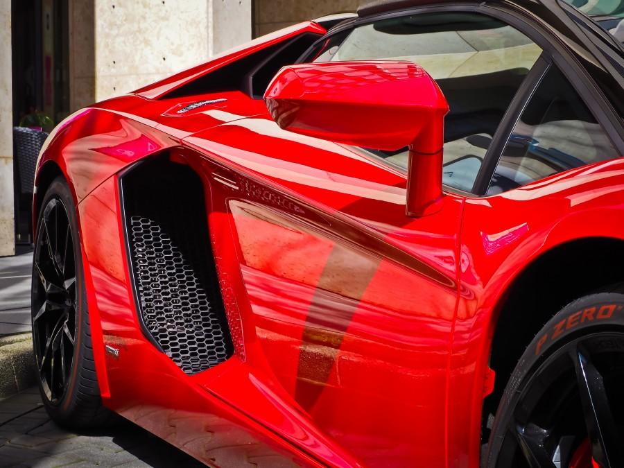 lamborghini, ferrari, rojo, auto, carro, coche, deportivo, rojo, lujo, detalle, nadie,