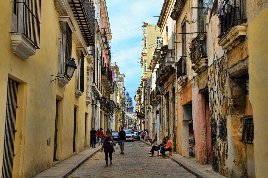 cuba, cielo azul, calle, arquitectura, urbano, ciudad, cubano, habana,