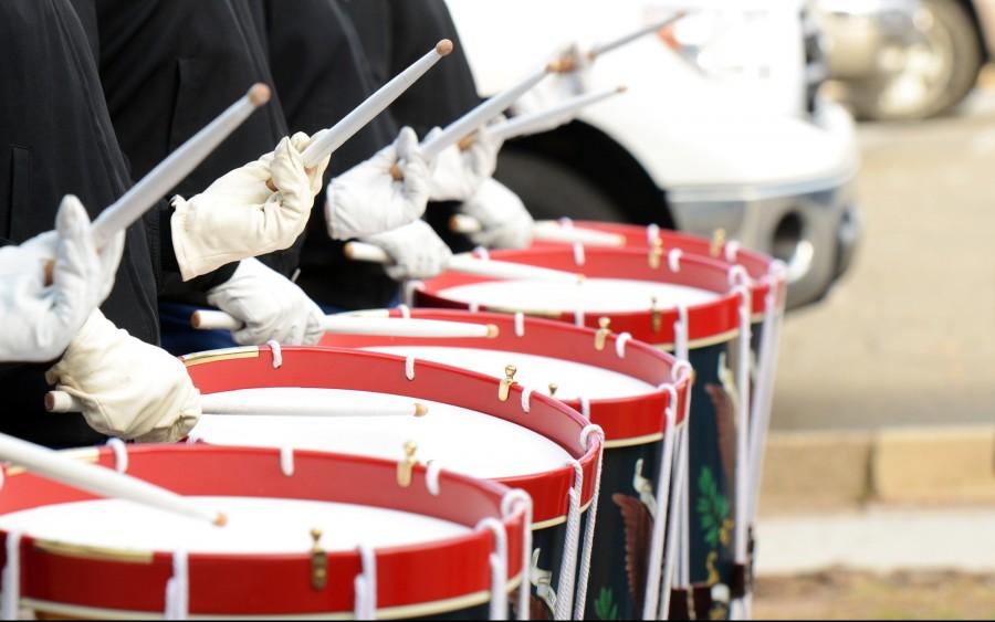ejercito, banda, musica, tambor, redoblante, formacion, gente, soldado, soldados, armada, sonido,