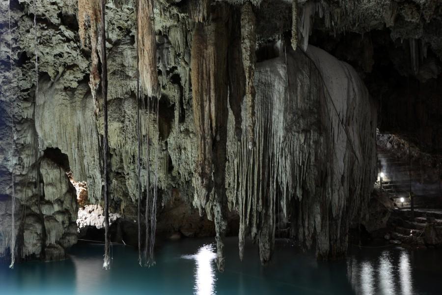 cenote, cueva, gruta, méxico, yucatán, kalksteinloch, agua fresca, estalactitas, la naturaleza, américa central, paisaje