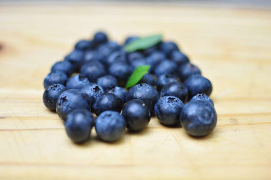 arándano, madera, saludable, fresco, fruta, orgánico, enfoque selectivo, alimentos, comidas