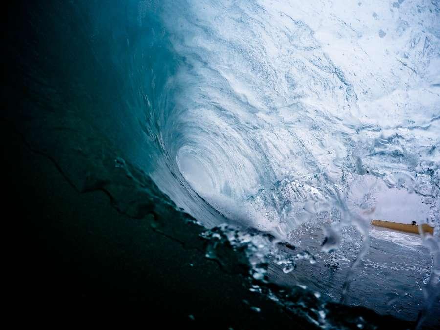ola, agua, azul, mar, fondo, background, surf, nadie, tunel,