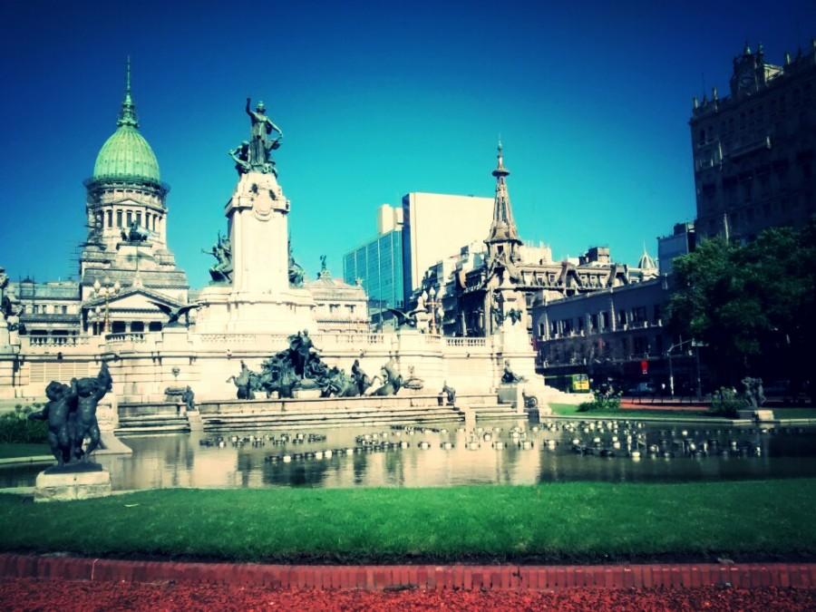 congreso, argentina, buenos aires, edificio, arquitectura, publico, dia, fuente,