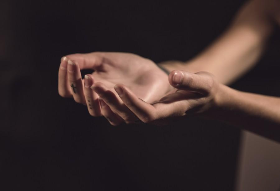 manos, mujer, sostener, concepto, gente, una persona, vacio,