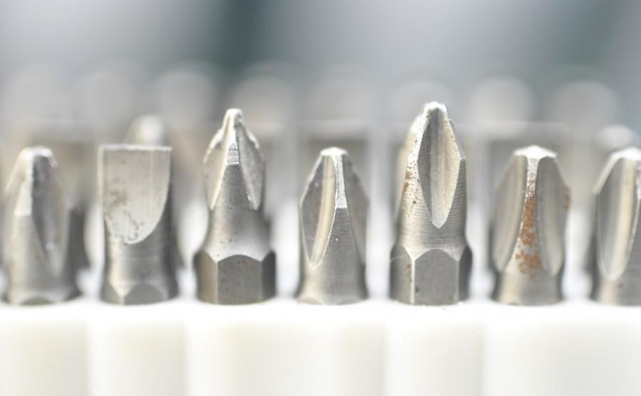 destornillador, herramienta, set, macro