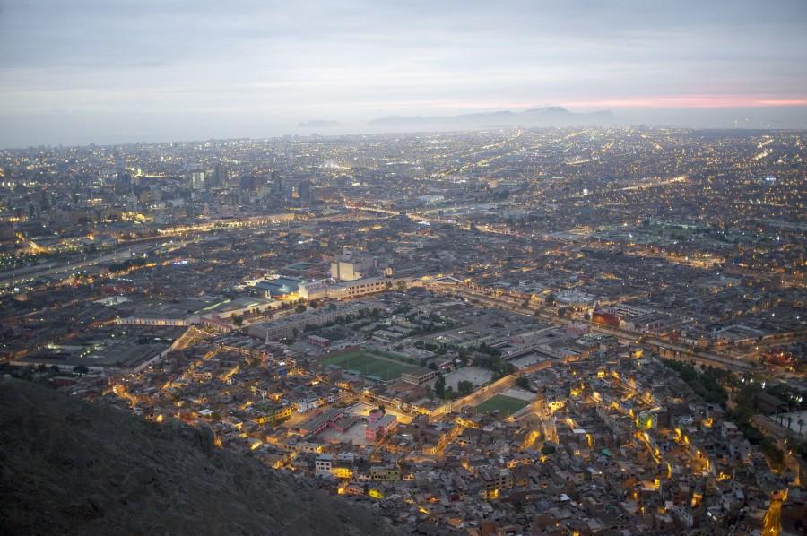 lima, peru, america del sur, america latina, ciudad, vista area, paisaje urbano, atardecer,