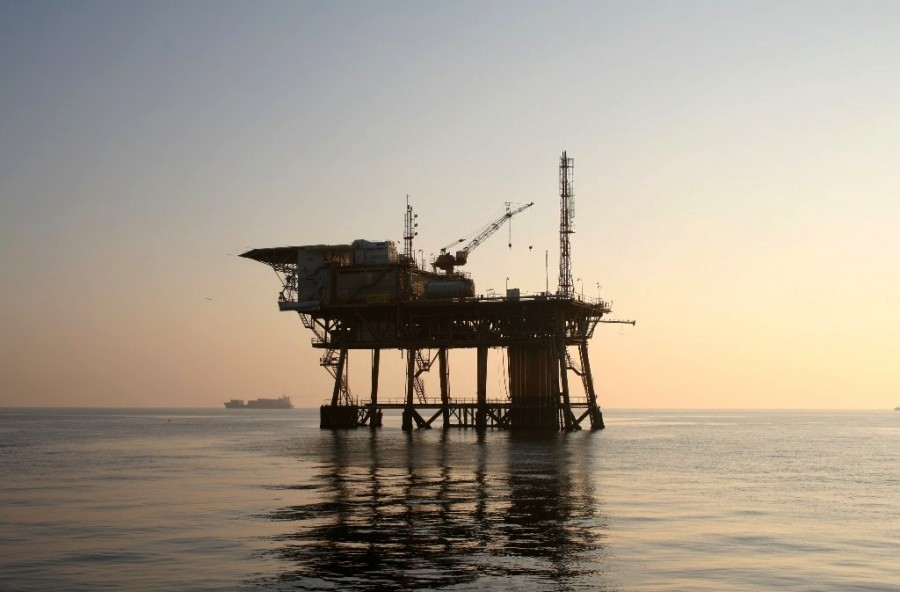 estacion de gas, adriatico, europa, energia, gas, petroleo, extraccion, mar, maritimo, maritima, plataforma, estacion, atardecer, produccion, industria, energia,