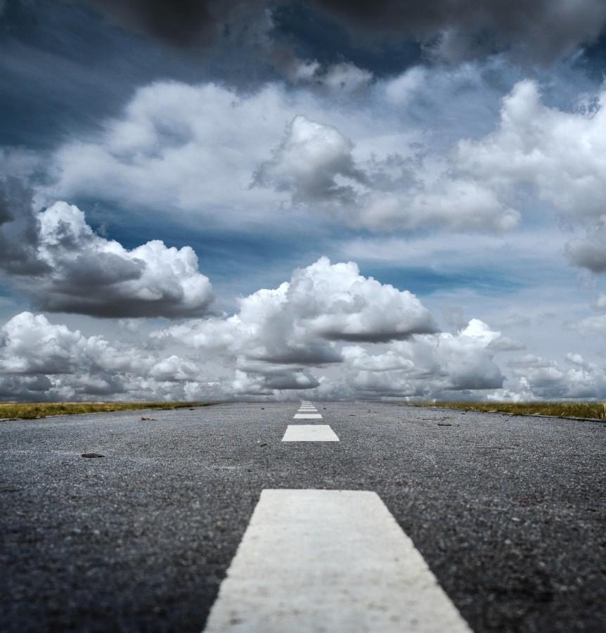 camino, cielo, carretera, asfalto, ruta, nadie, paisaje, linea, concepto, nadie, nubes