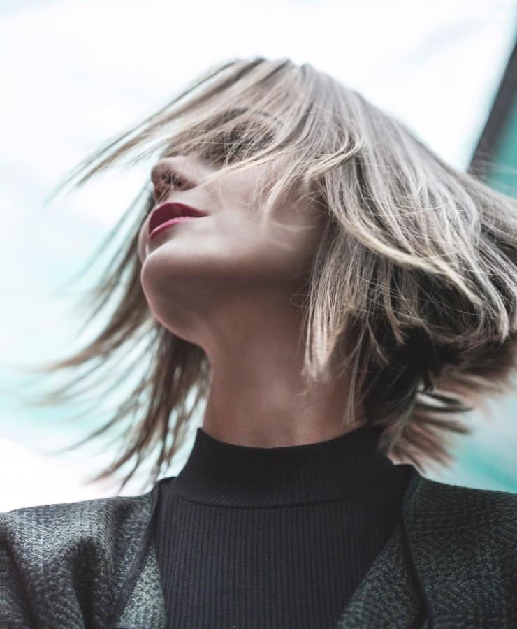 mujer, moderno, rubia, elegante, peinado, frescura, belleza, modelo, 30 años, negocios, ejecutivo,