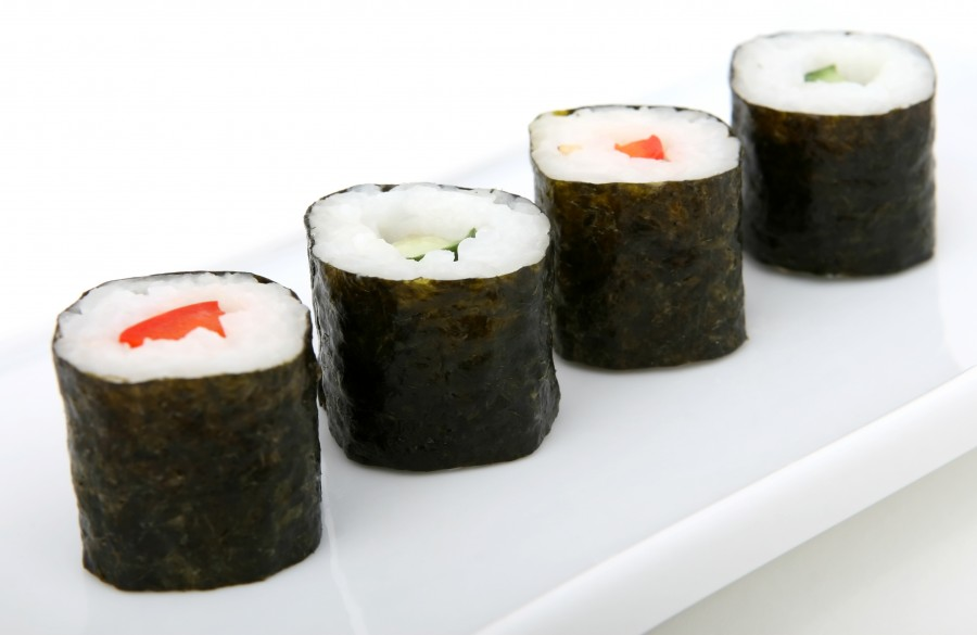 roll, philadelphia, salmon, sea, food, nori, popular, meal, delicacy, yummy, soy, ginger, avocado, grass, kelp, sushi, traditional, asia, dinner, tasty, seaweed, wasabi, sashimi, rice, wooden, maki, chopstick, board, japanese, american, seafood