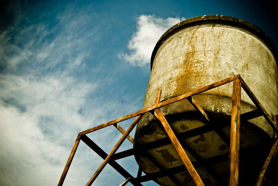 tanque de agua, agua, arquitectura, campo, escena rural, nadie, cielo,