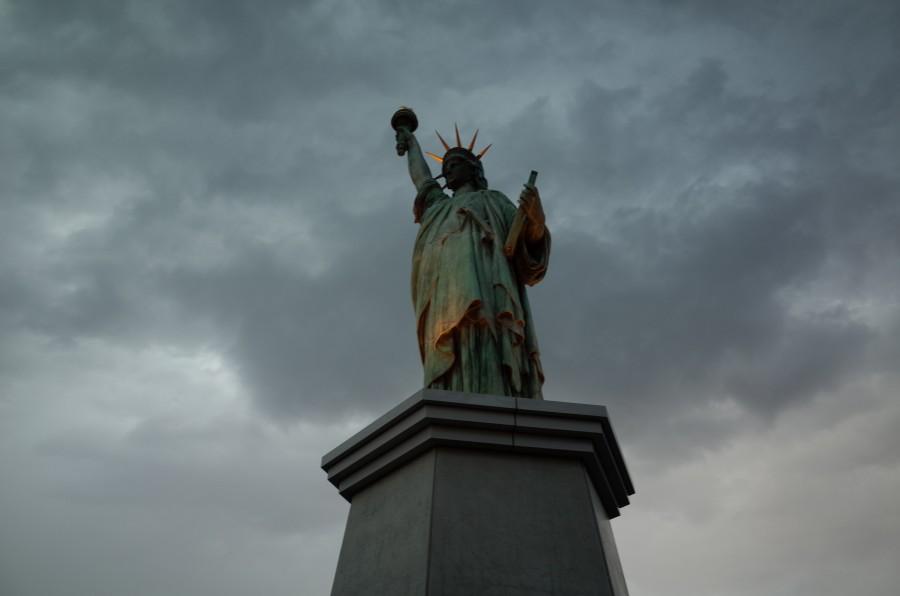 Estatua de la Libertad, Nueva York, USA, Estados Unidos, Lugar Turistico, Nublado, exterior, monumento, libertad,  america,  simbolo,