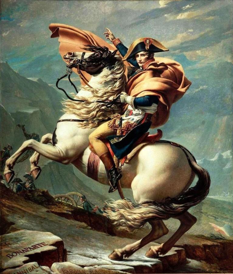 napoleon bonaparte, emperador, francia, reiter, caballo, pintura, ataque, 1800s, lona,arte, personalidad, oleo, personaje,