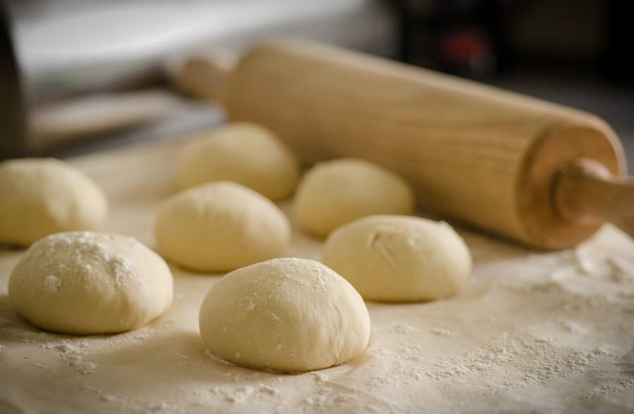 masa, amasar, palo de amasar, palo, panaderia, comida, pan, cocinar,