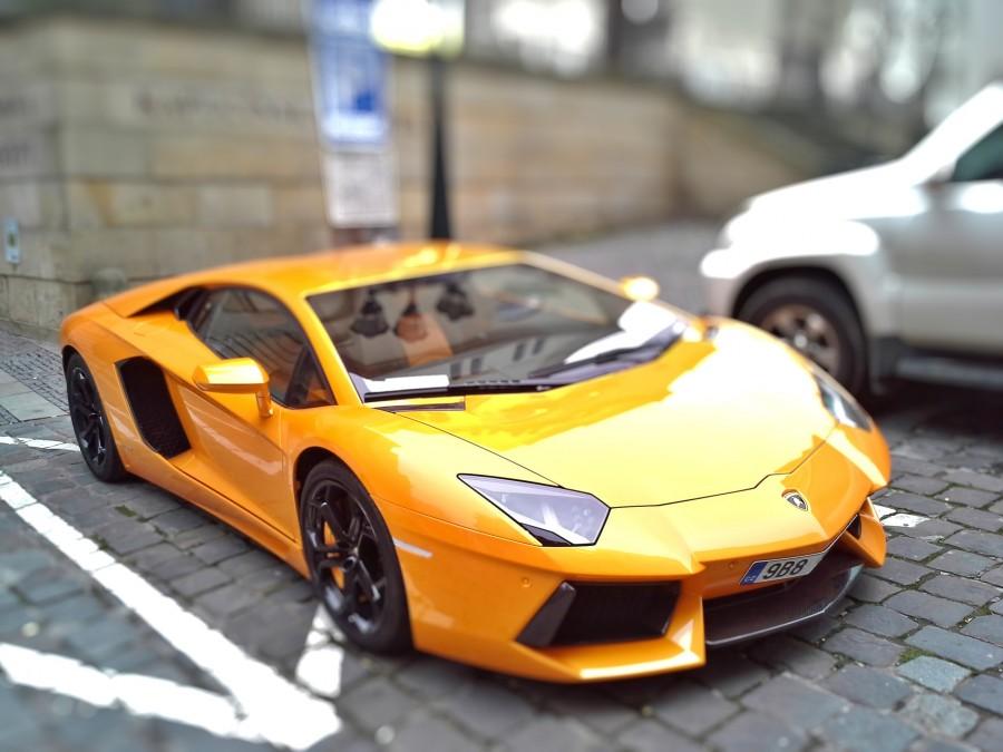 lamborghini, amarillo, auto, deportivo, lujo, uno, coche, carro, estacionado, aparcado,