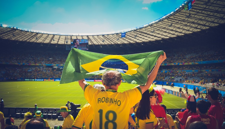 brasil, brasilero, estadio, futbol, deporte, fan, fanatico, bandera, america latina, tribuna, publico, deportivo, campo, juego,