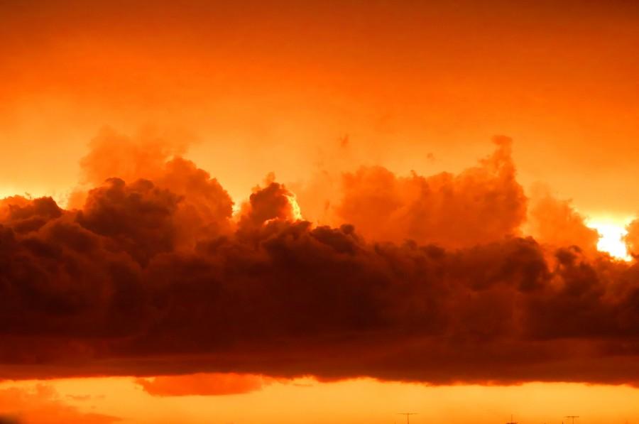 nube, nubes, tormenta, atardecer, rojizo, naranja, naturaleza, primer plano, nadie, nublado,