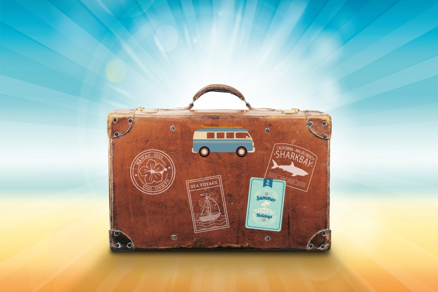maleta, viaje, viajar, concepto, destino, vacaciones, nadie, ilustracion, recuerdos, valija, bolso,