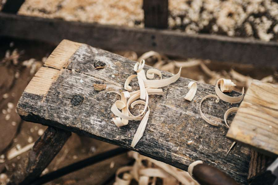 madera, astilla, aserrin, carpinteria, interior, trabajo, moldear, carpintero, nadie, detalle, cepillado,