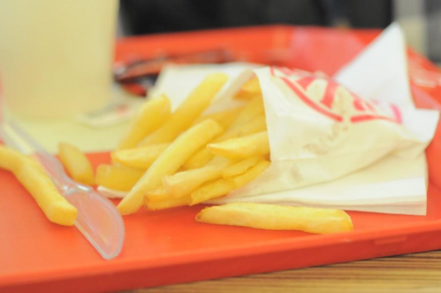 comida rapida, comida, papa, papas fritas papas, bandeja, alimento, chatarra, primer plano,