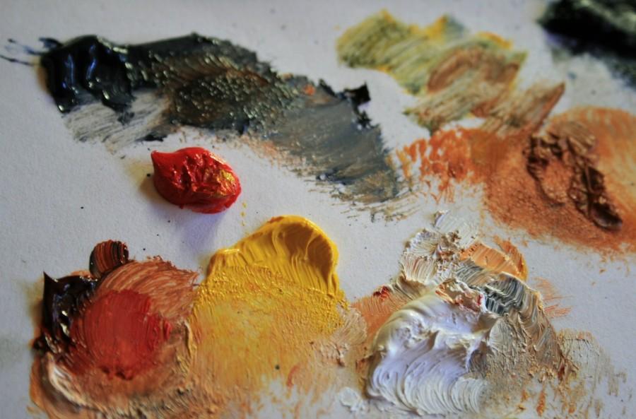 pintura, arte, color, colores, colorido, abstracto, nadie, fondo, background, oleo, pintar, actividad,