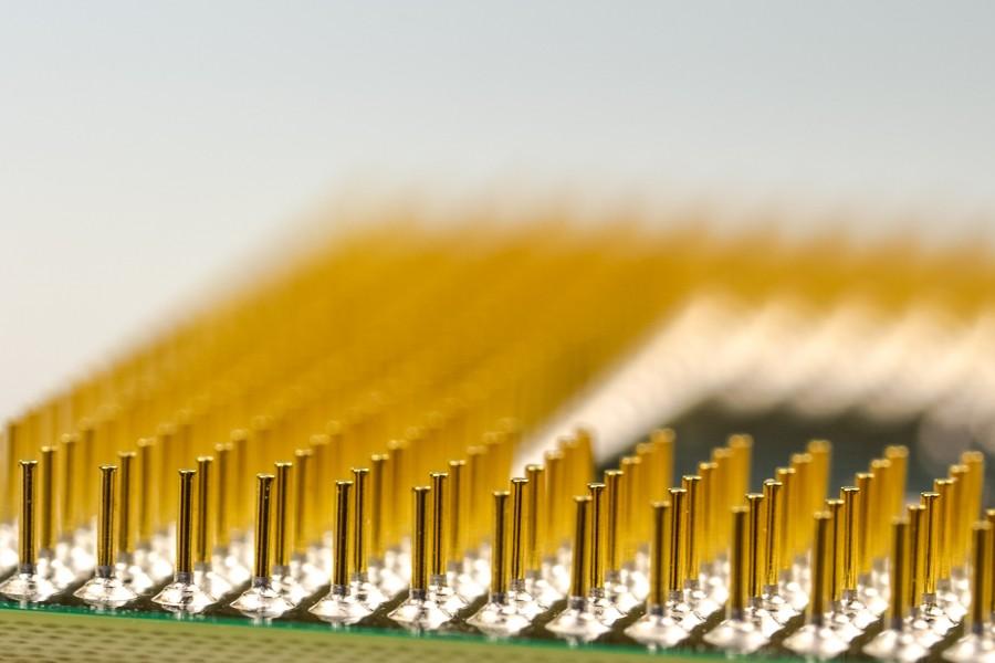 Microchip, cobre, electronica, micro, placa, tecnologia, disipador, energia, plaqueta, electronico, primer plano, detalle, cpu,