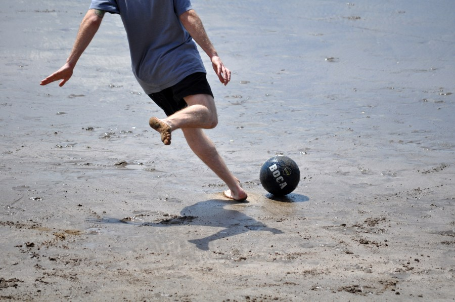 Playa, futbol, jugar, jugando, deporte, arena