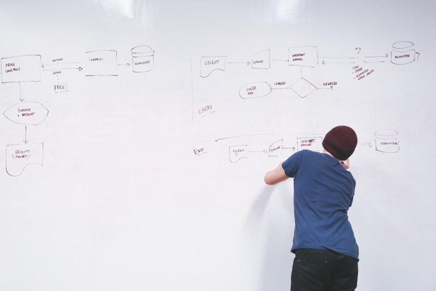 diagrama de flujo, pizarra digital, oficina, negocio, planificacion, individuo, hombre, gente, trabajando, puesta en marcha, profesor, escuela, universidad, educacion, diagrama, sinoptica, mesa, cuadro, sinoptico,