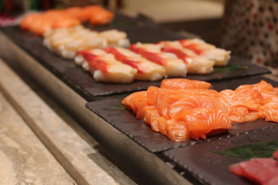 sushi, salmon, comida, asia, japon, japonesa, fresco, crudo, rosado, sashimi,