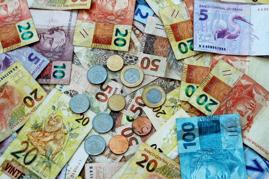 real, reales, brasil, dinero, billete, monedas, finanzas, brasilero, fondo, background,