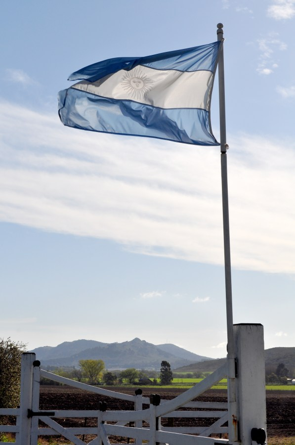 argentina, bandera, pais, cielo, nadie, simbolo