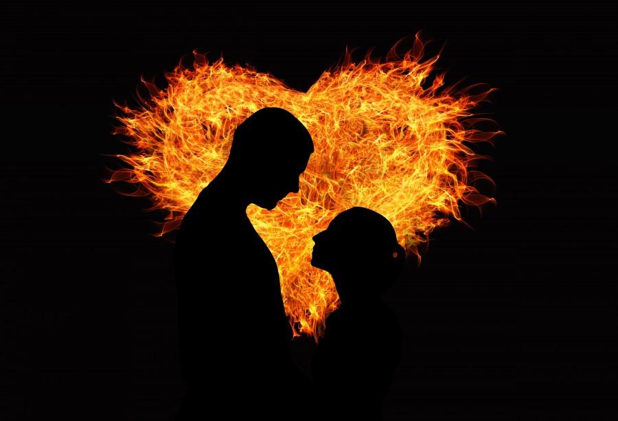 imagenes de amor tiernas para celular, amor, imagenes de amor, ternura, dulzura, corazón, fuego, corazón de fuego, pareja, hombre y mujer, novios, novia, novio, noviazgo, juntos, enamorados, enamorar, compañero, compañera, fondo negro, siluetas, mirándose