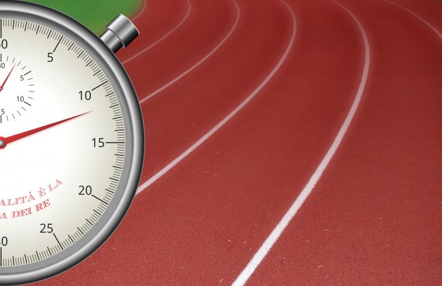 Cronometro, deporte, tiempo, carrera, llegada, olimpico, reloj, presicion, nadie, concepto,