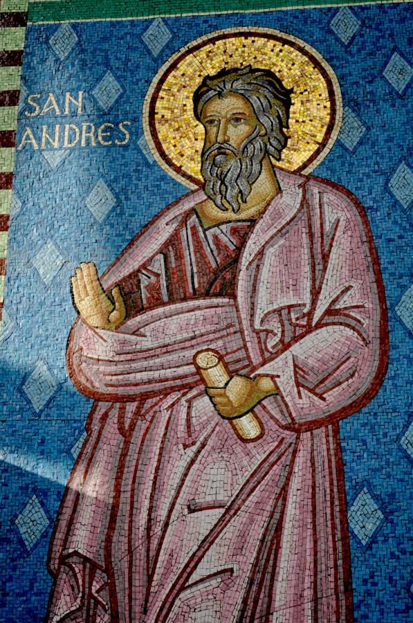Mural, san andres, santo, catolico, catolica, religion, osorno, iglesia,