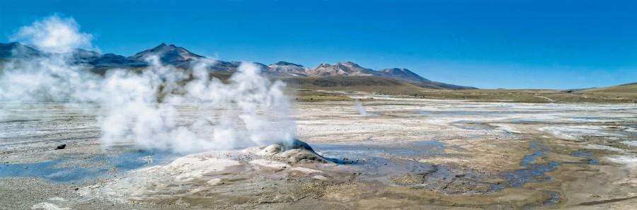 desierto de atacama, chile, antofagasta, cráter, geiser, vapor, el tatio, paisaje, punto de ebullición, magma,  San Pedro de Atacama , campo de géiseres, norte de Chile, montañas, cielo azul