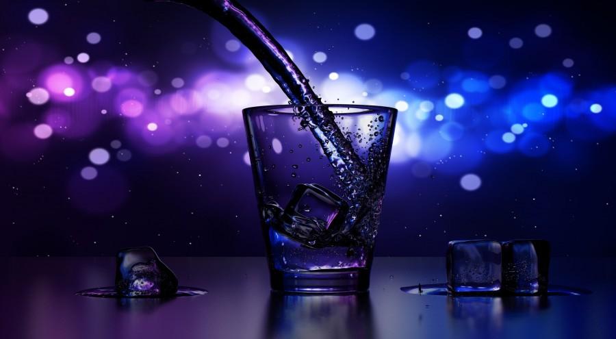 beber, copa, finales, bar, pub, hielo, vino ,fiesta, violeta, azul, fondo de pantalla hd