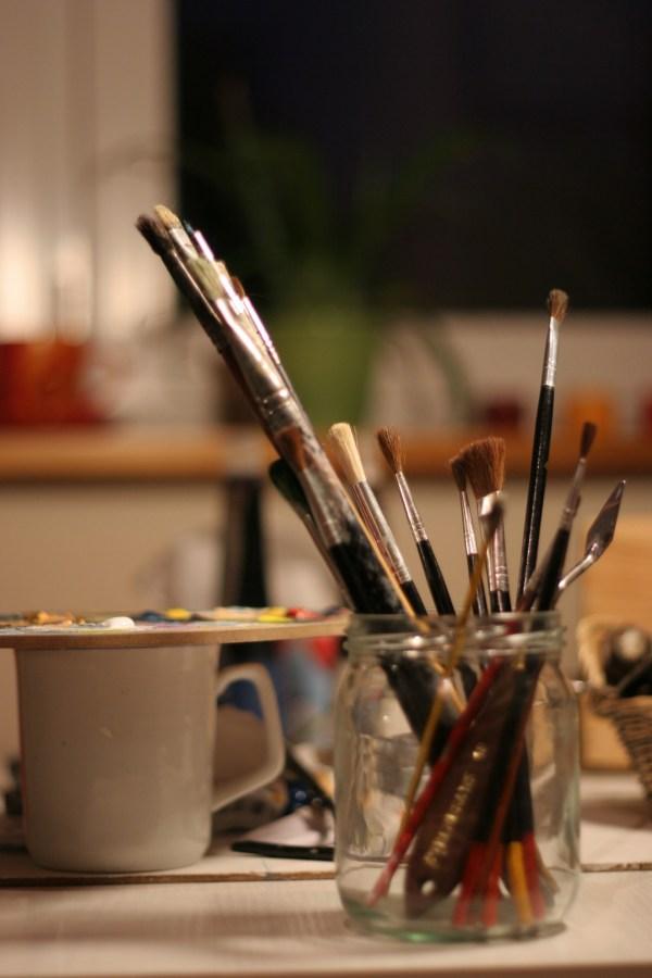 Pinceles, pincel, pintura, arte, interior, taller, herramienta, artistico, pintar, acuarella, pintura, dibujo, talle, interior,