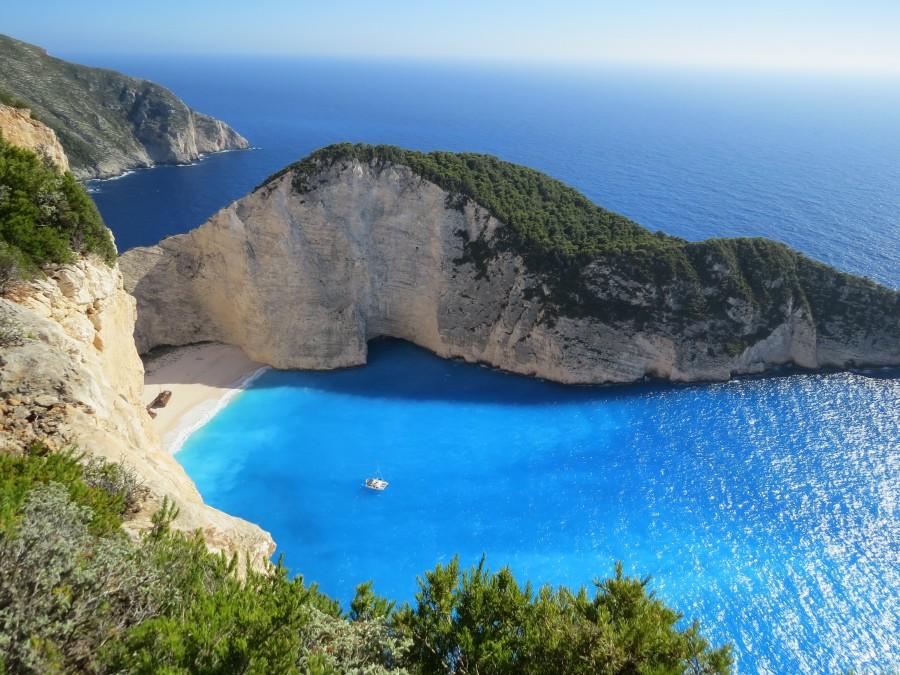 mar, costa, paisaje, europa, grecia, vacaciones, idilico, corfu, playa, arena, verano, nadie,