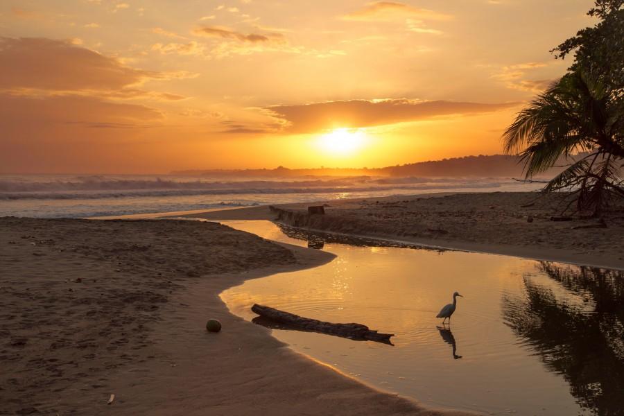 panama, centro america, playa, atardecer, dia, costa, puesta de sol, mar, paisaje, nadie, caribe, tropical, fondos de pantalla hd, fondos de pantalla 4k