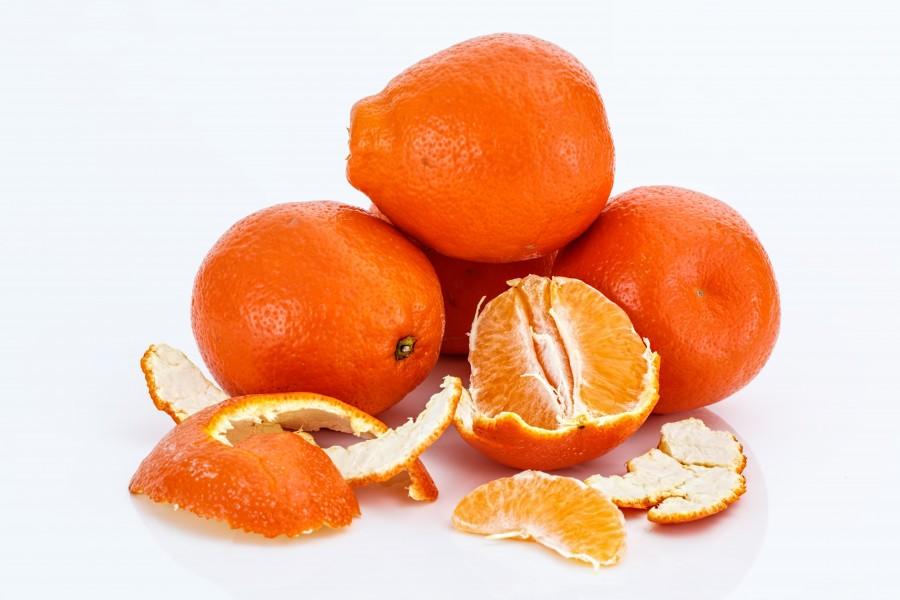 mandarina, fruta, frutas, naranja, fondo blanco, comida, citrico,