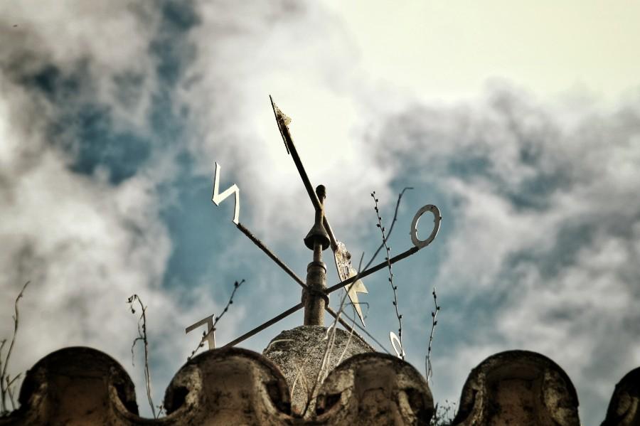 veleta, norte, direccion, magnetico, viento, cielo, rosa de los vientos, flecha, destino, concepto,