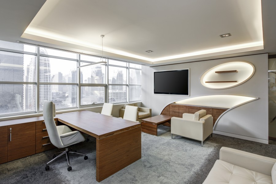 oficina, salón, ejecutivo, sesión, negocio, escritorio, lugar de trabajo, corporativa, tecnología, trabajo , escritorio, sillon, sofá, television, pantalla, moderno, ordenado, sala de reuniones