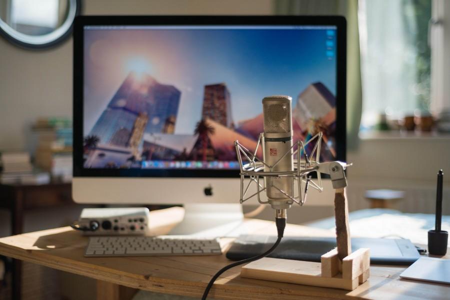 Música, PC, estudio, apple, audio, blogs, computadora, escritorio, de escritorio, hogar, iMac, teclado, mac, metal, microfono, oficina, grabacion, sí, cantando, tecnología, trackpad, narracion,