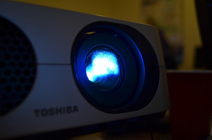 Proyector, presentacion, luz, lampara, presentar, proyectar, tecnologia, negocios, cine,