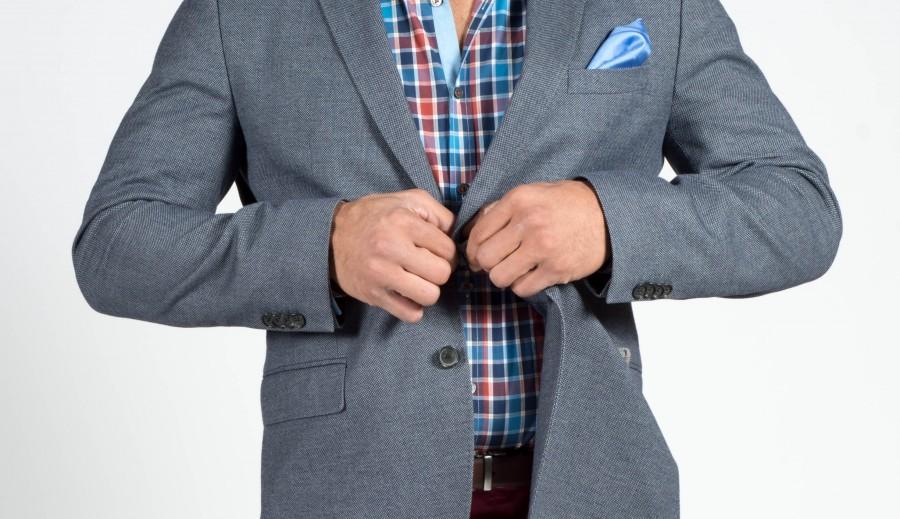 Boton, Fotografía Comercial, Ed Gregory, moda, libre, libre Fotos de archivo, de dominio público, de Imágenes, Fotos, Fotografías, Imágenes, Stokpic, azul, cheque, gris, chaqueta, mirar, macho, hombre, a cuadros, camisa , elegante, estilo, juego, traje