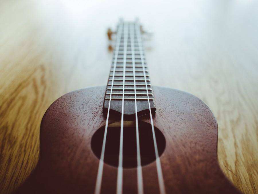 ukelele, musica, instrumentos, objetos, guitarra, instrumento, musical, cuerdas,