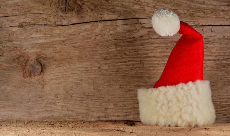 navidad, gorro, gorra, santa claus, navideño, rojo, concepto,