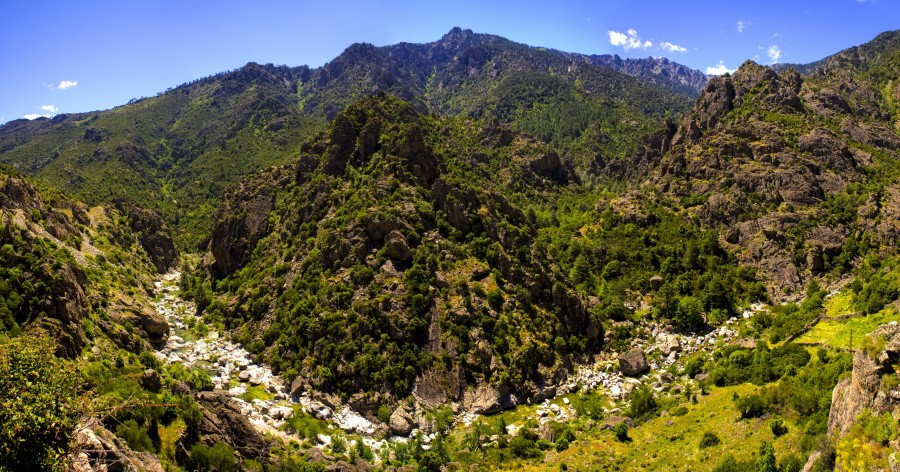 córcega, francia, la naturaleza, río, paisaje, montaña, hierba, resto, el agua , fotos gratis,  imágenes gratis