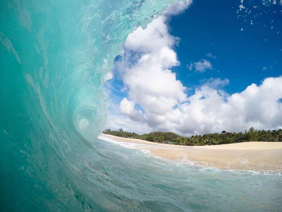 ola, mar, costa, playa, paisaje, verano, nadie,