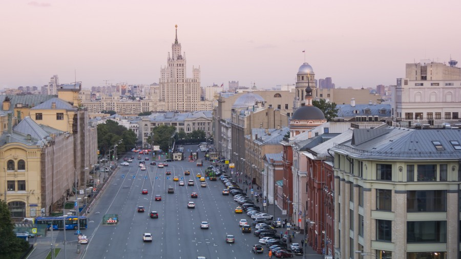 moscu, rusia, ciudad, ciudad capital, atardecer, paisaje urbano,